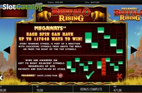 Lines Buffalo Rising Megaways Video Slot From Blueprint