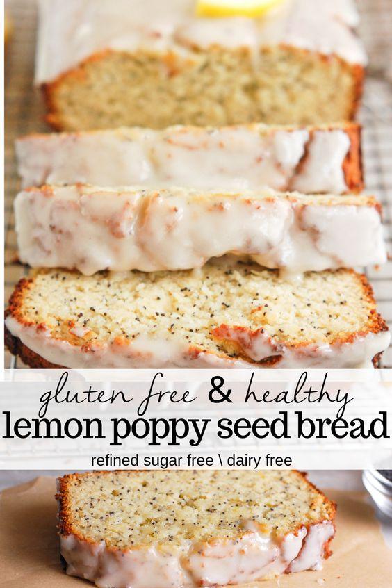 Gluten Free Lemon Poppy Seed Bread