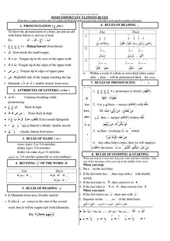 Tajweed Rules Google Search Learn Quran Tajweed Quran Quran Verses