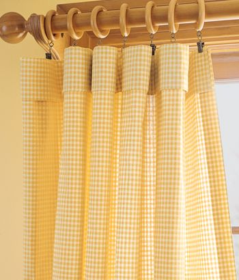 Laurel Check curtains in cheery yellow from Country Curtains adds ...