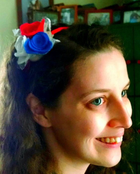 American Pride Flower Ribbon Headband by OurHappyHomeInBoring on Etsy