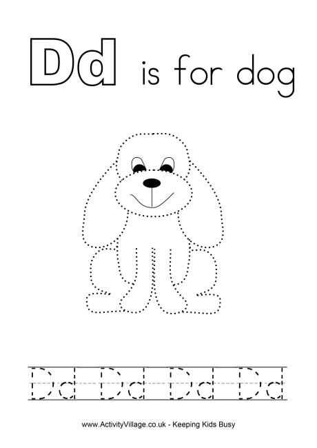 tracing alphabet d smart kids printables pinterest for dogs printables and d. Black Bedroom Furniture Sets. Home Design Ideas