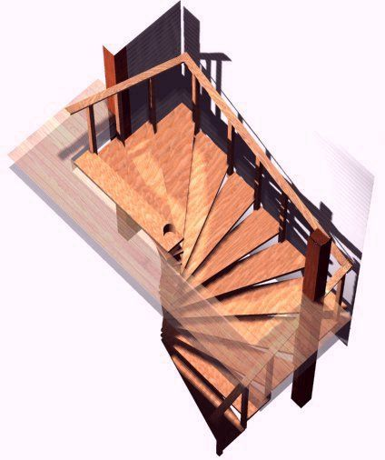 Spiral stair plans spiral stairs crafted in wood how to for Square spiral staircase plans hall