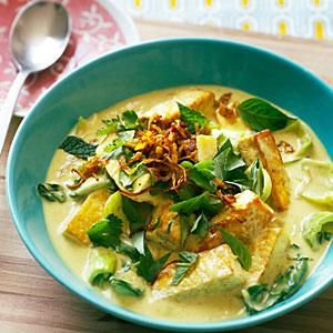 Fresh Herb and Tofu Curry Recipe | MyRecipes.com
