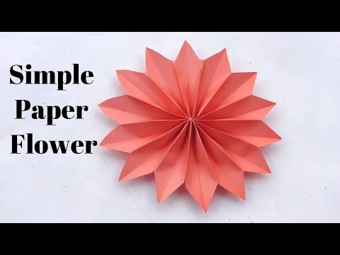 How To Make Flower Out Of Paper Easy Youtube Paper Flower