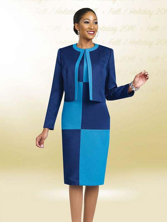 Ben Marc Executive 11482 Womens Color Block Dress &amp Jacket Set