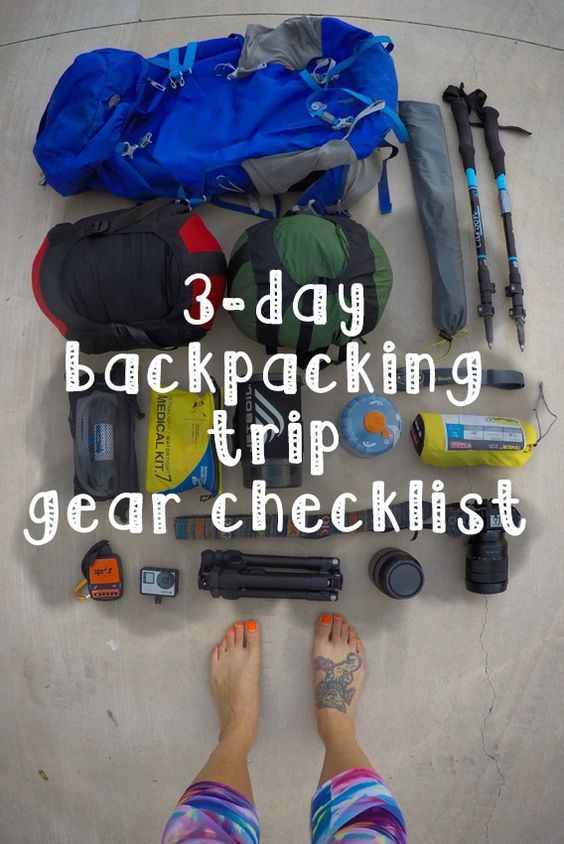 backpacking checklist  backpacking and hiking gear on