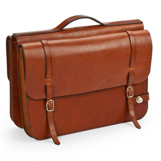 Leather Bike Briefcase