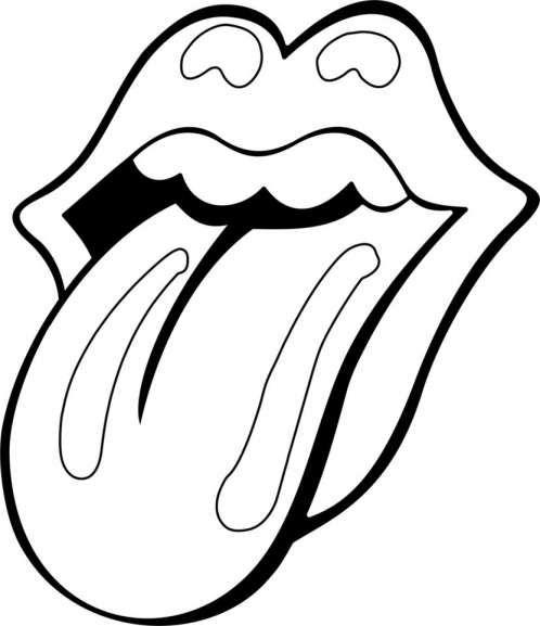 7 Rolling Stones Coloring Book Rolling Stones Logo Rolling Stones Tattoo Rolling Stones