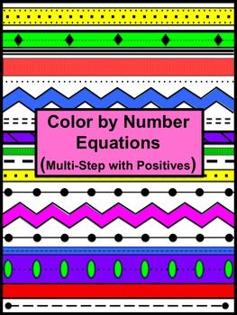 Distributive Property Color By Number from Coats Math