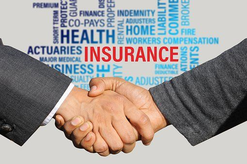 Insurance Contract Shaking Hands Medical Insurance Life