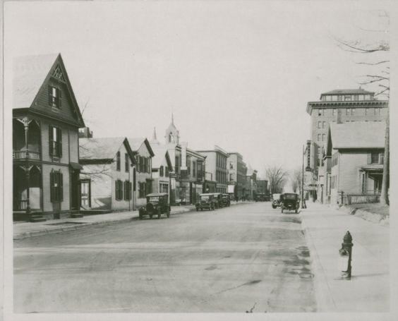Halloween Burlington Vt 2020 Cherry Street in the 1930s Burlington Vt. This is the street my