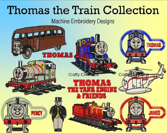Thomas the Train Embroidery Machine Design Patterns 4x4 Hoop dst, exp, hus, jef, pes, sew, vip, vp3, xxx Formats INSTANT DOWNLOAD by 4CraftyCreations on Etsy https://www.etsy.com/transaction/258259379