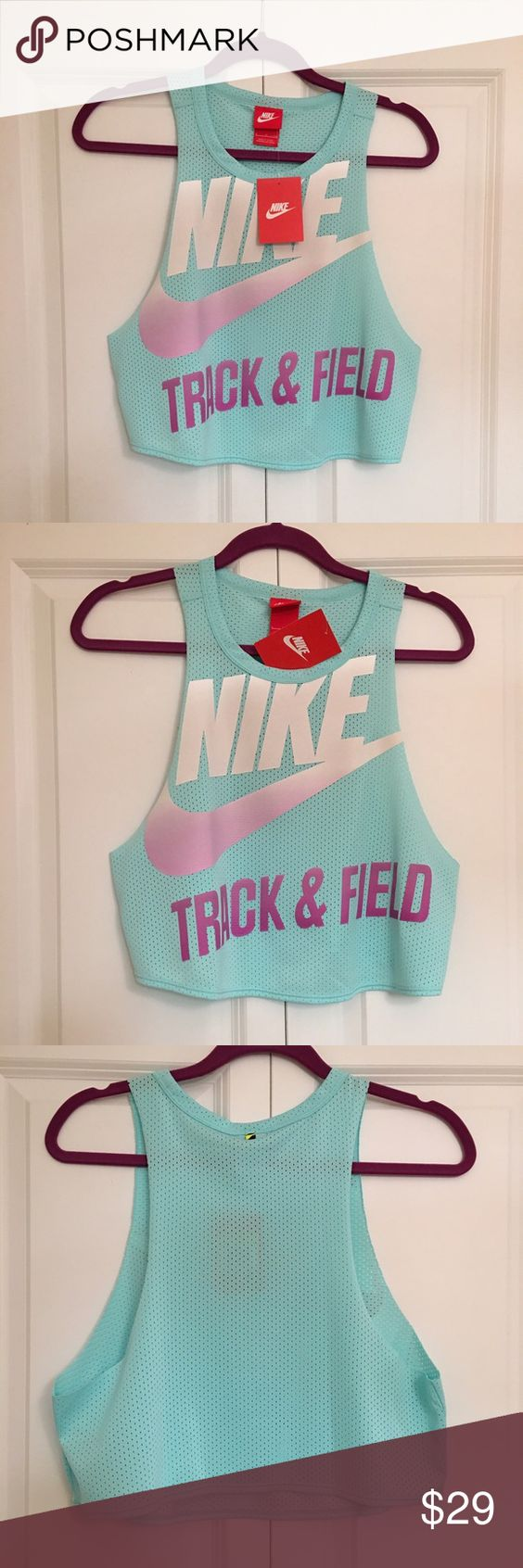 Nike Muscle Tank Crop Top NWT   Size Small Nike Tops Crop Tops