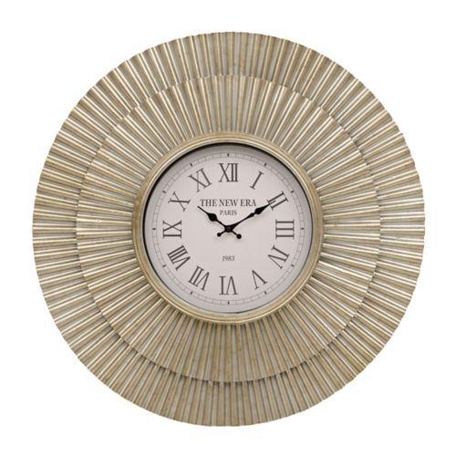Evie Layered Metal Clock | Kirklands