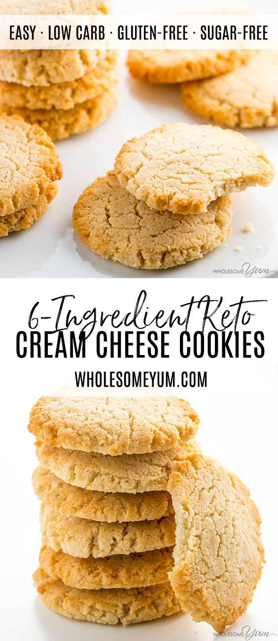 Low Carb Keto Cream Cheese Cookies Recipe Quick Easy These