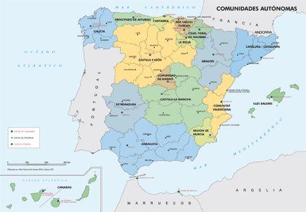 La organización territorial de España