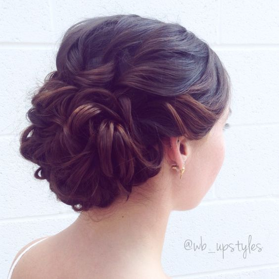 Wedding updo. Romantic upstyle