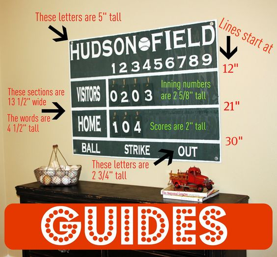 That Village House: Baseball Scoreboard {Wall Art}