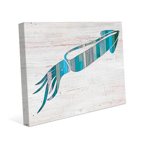 Horizon Squid Canvas Wall Art
