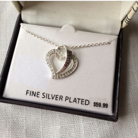 Mom Silver Plated Necklace New in Box Brand new. Ask for a shipping discount! Jewelry Necklaces