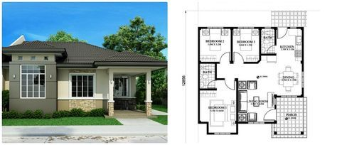 Small House Design 150 Sq M With House Plan Small House Design Bungalow House Design House Design Trends