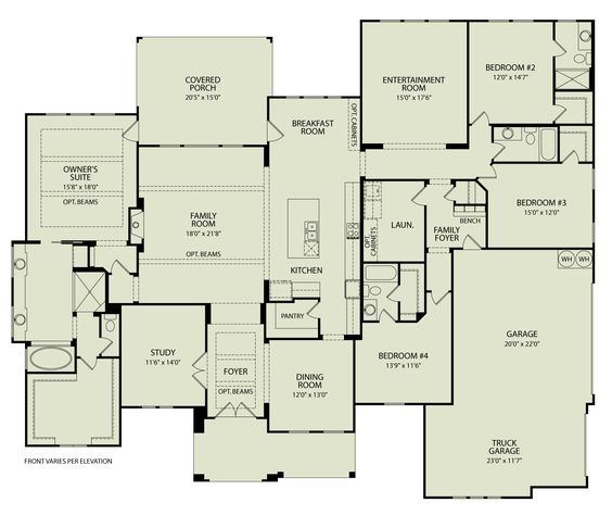 channing 125 drees homes interactive floor plans