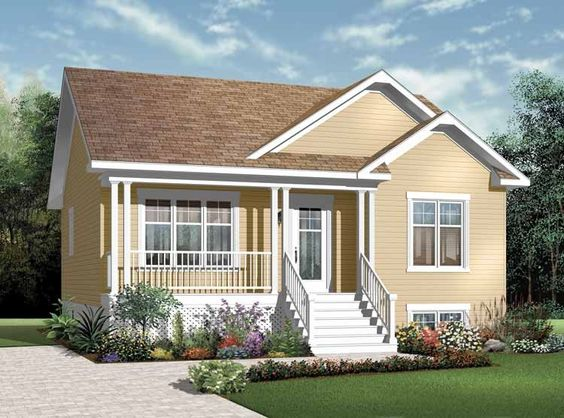 Eplans Country House Plan Two Bedroom Country 911 Square Feet
