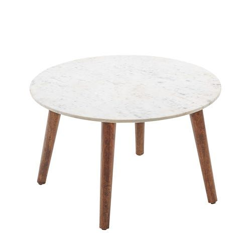 Clark White Marble Coffee Table Round Glass Coffee Table Round