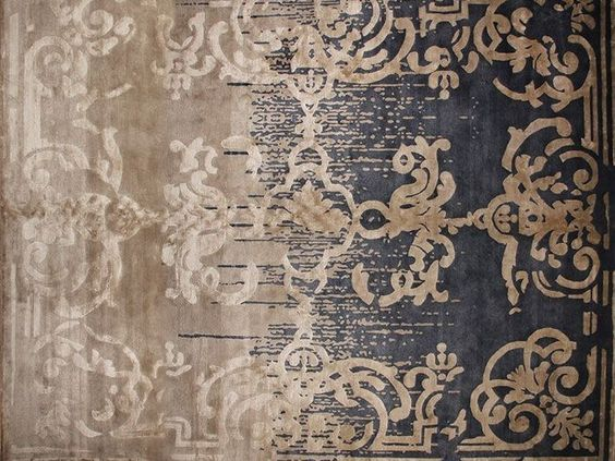 Tapis fait main rectangulaire MAGELLAN SHADOW VINTAGE BLENDED by EDITION BOUGAINVILLE