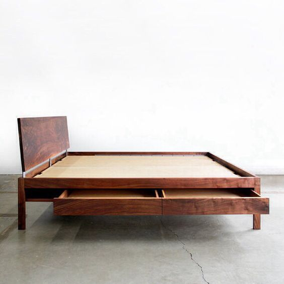 Best Mid Century Platform Bed Inside Pinterest The Smalls 640 x 480