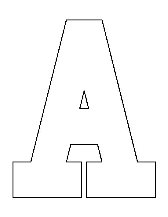 Letter A pattern. Use the printable outline for crafts, creating ...