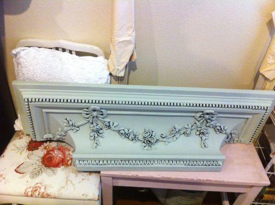 Large Roses Swag Shelf or Plate Holder  by Vintagecollectorlove,
