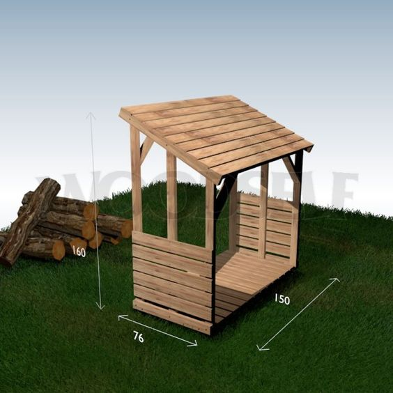 Abri Bois Palette : Woodworking Plan Wood Shelter