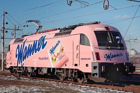 Slowenische Staatsbahn  Manner Werbung