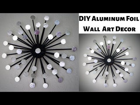 Aluminum Foil Diy Wall Art Decor Newspaper Craft Wall Hanging