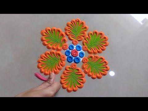 Youtube Easy Rangoli Designs Rangoli Designs Simple Rangoli