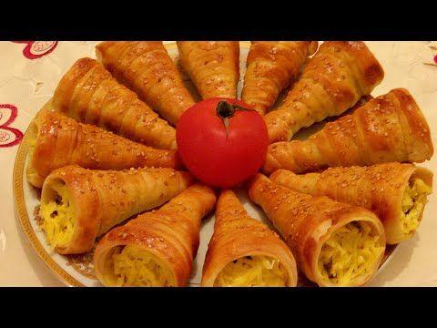 كورني بحشوة مالحة لذيذة و عجينة و لا أسهل مملحات فطائر روعة Youtube Food Vegetables Carrots