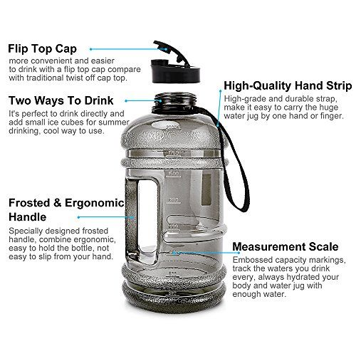 Standard 2.2 Litre Water Jug For Fitness Home Office Training Sports
