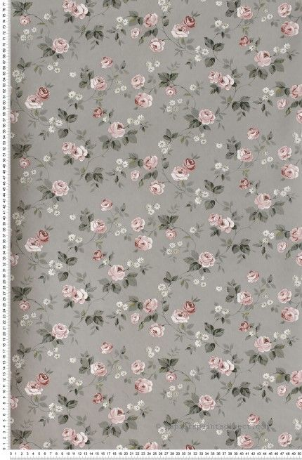 liberty rose et gris papier peint lut ce flowers grey romance http www. Black Bedroom Furniture Sets. Home Design Ideas