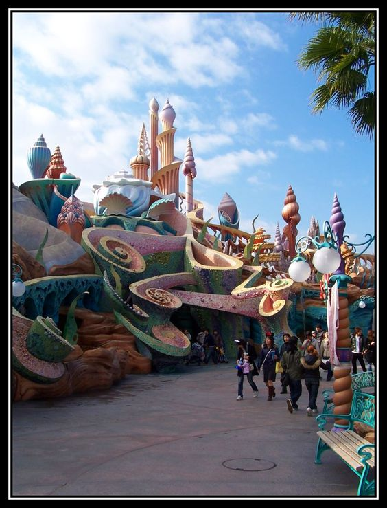 The Little Mermaid part of Tokyo Disney Sea.