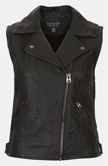 Topshop 'Maddy' Sleeveless Biker Jacket available at #Nordstrom
