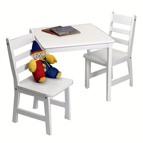"Lipper Child's Square Table & 2 Chairs Set - White - Lipper International - Toys ""R"" Us"