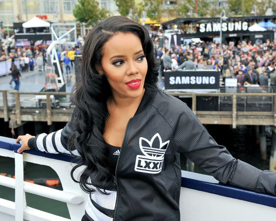 It looks like Angela Simmons of WeTV's 'Growing Up Hip Hop' couldn't hide her pregnancy any longer.