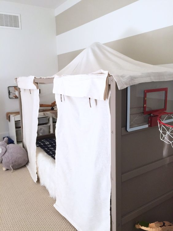 Harlow & Thistle: DIY Boy Canopy Bed - Ikea Kura Hack: