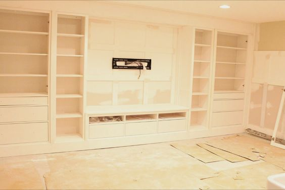 How to create built ins using ikea hemnes furniture.