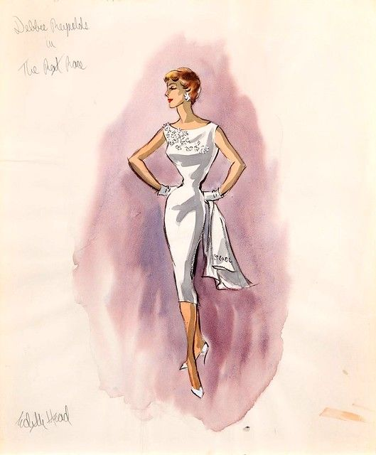 Costume Sketches From The Archives Of Multiple Academy Award Winning Film Fashion Designer Edith Head A Edith Head Sketches Edith Head Designs Edith Head Fashion