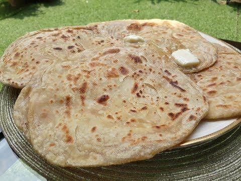 خبز البراتا او البراثا الهندي المورق How To Make Paratha Youtube Cooking Recipes Indian Food Recipes Food