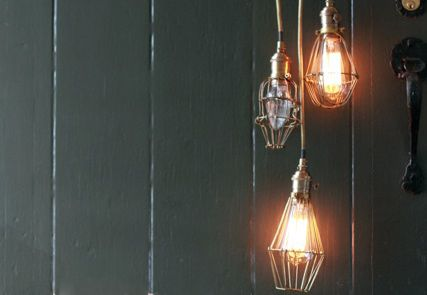 Industrial Wire Cage Lamps