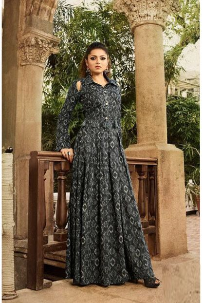 Wholesale Printed Event Wear Rayon Long Length Kurtis Cataloge ... 5e16ff423